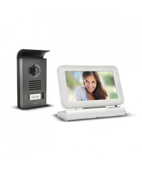 EXTEL Interphone vidéo couleur sans fil avec écran tactile 7'' pouces et carte SD 4Go fournie Lesli