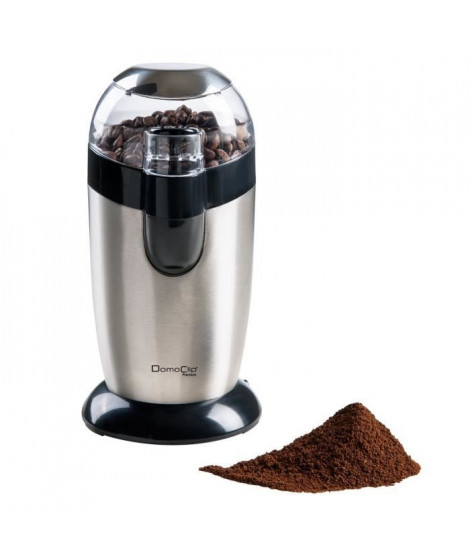 DOMOCLIP DOD116 Moulin a café ? 120W ? 40 g - Inox