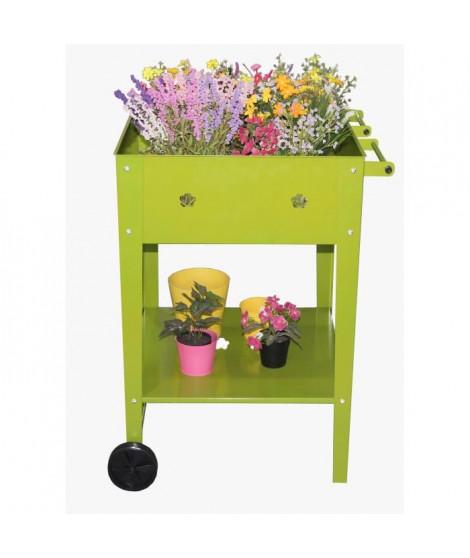 Pot de fleur en métal - Vertical Planter Kits - 55x55x80cm - Vert