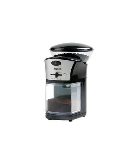 DOMO DO442KM Moulin a café ? Capacité: max. 215gr de grains de café ? Noir/Inox