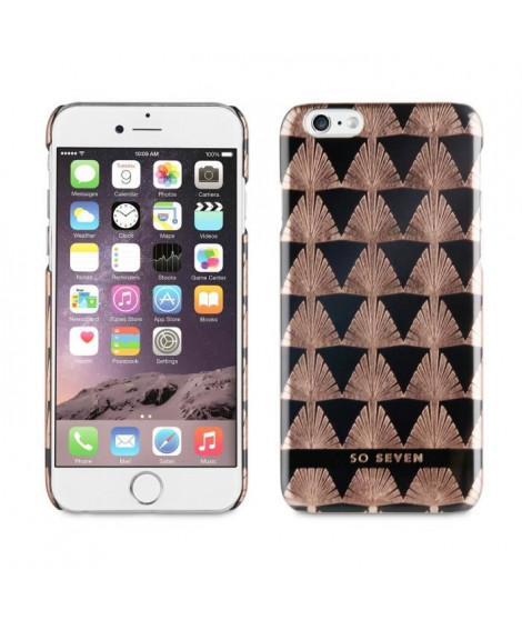 SO SEVEN Coque Midnight PALME OR Rose APPLE IPHONE 6/6S