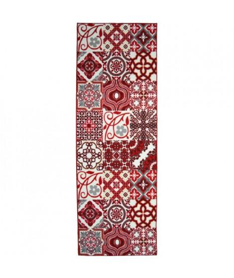 Tapis Utopia 250 80x300 cm rouge et blanc
