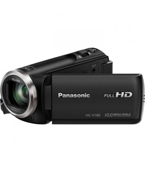 PANASONIC HC-V180 Camescope numérique Full HD 50p - Ultra grand angle 28mm