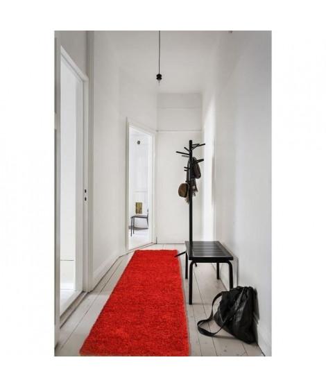 TRENDY Tapis Shaggy rouge 80x300 cm