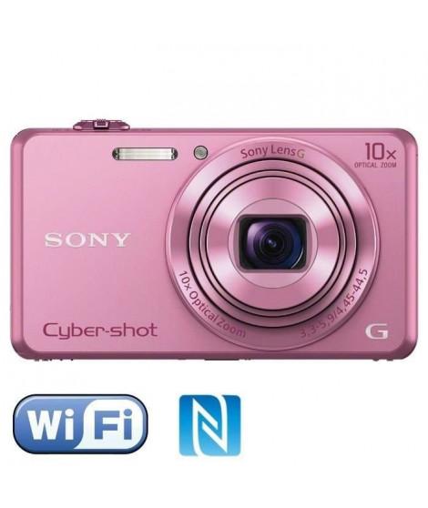SONY DSC-WX220 Rose - CMOS 18 MP Zoom 10x Appareil photo numérique Compact