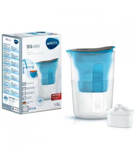 BRITA Carafe filtrante Fun 1,5 L + 1 cartouche Maxtra+ bleu