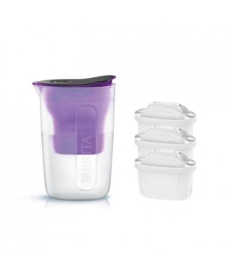 Pack BRITA Carafe filtrante FUN Violet + 3 Cartouches de rechange