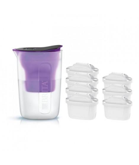 Pack BRITA Carafe filtrante FUN Violet + 7 Cartouches de rechange