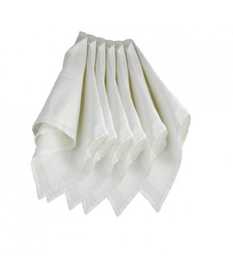 TROIS KILOS SEPT Lot de 6 langes couches   hydro - 70x70 cm - Blanc