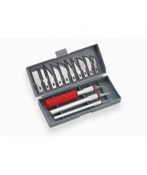 MEISTER Jeu 16 couteaux de précision dans boite