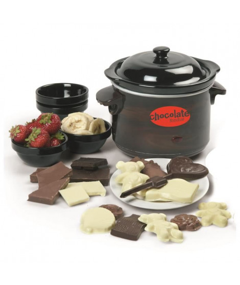 DOMO DO915CH Fondue a chocolat avec moules ? 70W ? Noir/Marron
