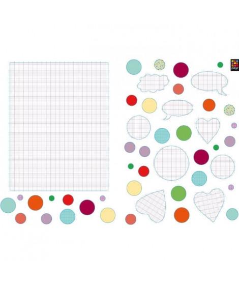 PLAGE Stickers adhésif mural Taille S - Pense pas bete2 planches 29,7 x 21 cm, divers motifs