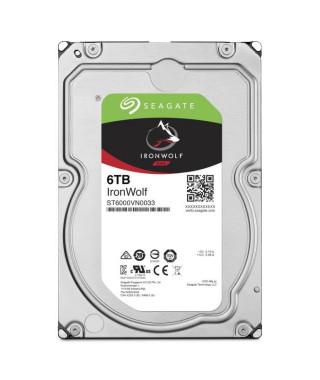 "SEAGATE Disque dur interne IronWolf 6To - SEAGATE PSG-NAS-6000GB-6Gb/s-SATA-NO ENCRYPTION-4096-7200-128Mb-3.5""-26.1mm"