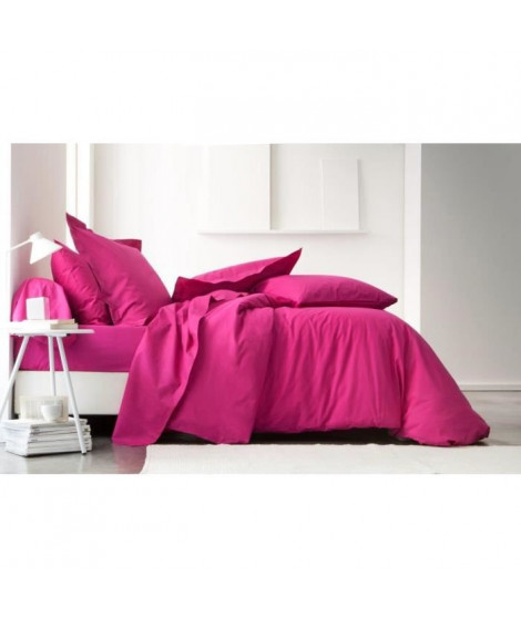TODAY Housse de couette 100% coton JUS DE MYRTILLE 140x200cm - Rose