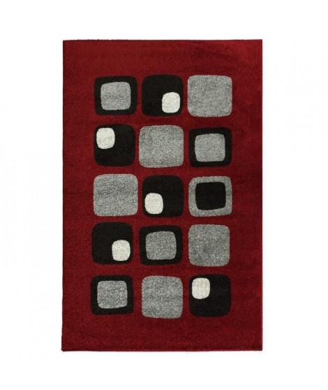COSI Tapis de salon rouge 160x220 cm