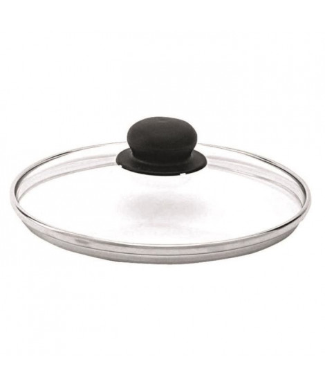 BEKA Couvercle performance verre bord inox 24 cm