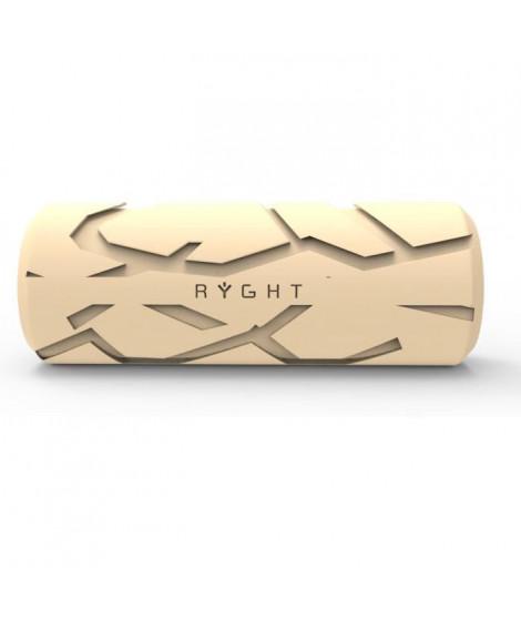 RYGHT R481528 JUNGLE - Enceinte nomade sans fil Bluetooth - Autonomie 8h - Micro intégré - Blanche