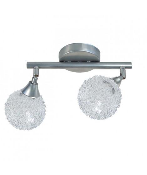 ACTUELLE Applique barre double-boule fil aluminium