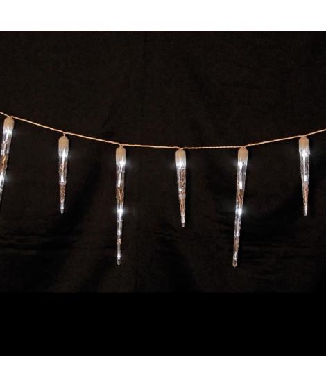 Guirlande 32  stalactites - 48 LEDS blanche - L4,65 M - 5 m