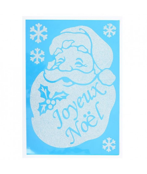 Sticker Pere Noël en PVC 49x69 cm
