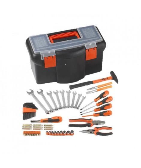 """TOOD Boite a outils 16"""" 42 cm avec 57 accessoires"""