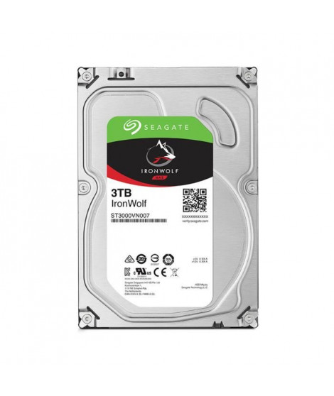 Seagate NAS HDD Iron Wolf 3To 3,5""