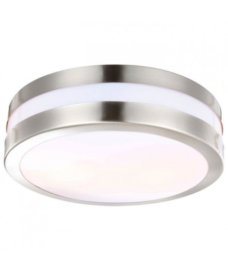 GLOBO LIGHTING Plafonnier extérieur inox - Plastique opal