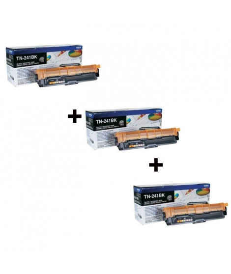 3 x Brother TN-241 Toner Laser Noir