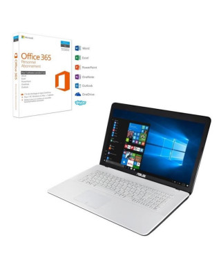 """Pack ASUS PC Portable F751NA-TY018T 17,3"""" + Office 365 Personnel"""