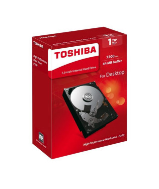 TOSHIBA Disque dur interne P300 - 1 To - 64 Mo - 3,5'' - 7200 Tours/min