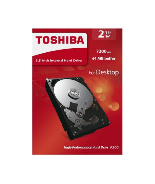 TOSHIBA Disque dur interne P300 - 2 To - 64 Mo - 3,5'' - 7200 Tours/min