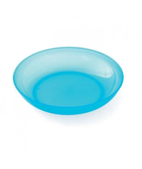 PLASTOREX Assiette micro-ondable Polypropylene 18,5 CM Bleu lagon translucide