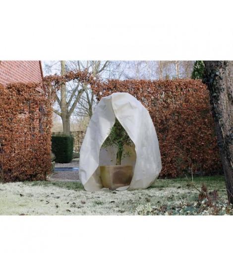 NATURE Housse d'hivernage 70 g/m² - Ø150 cm x 2 m - Beige