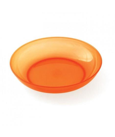 PLASTOREX Assiette micro-ondable Polypropylene 18,5 CM Orange agrumes translucide