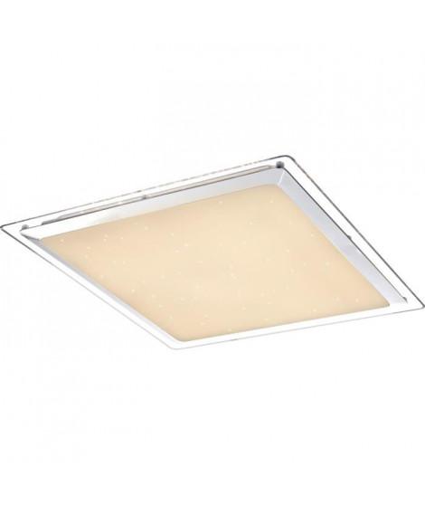 Plafonnier LED en métal 7x44,5x44,5cm Blanc