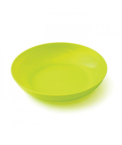 PLASTOREX Assiette micro-ondable Polypropylene 18,5 CM Jaune tilleul opaque