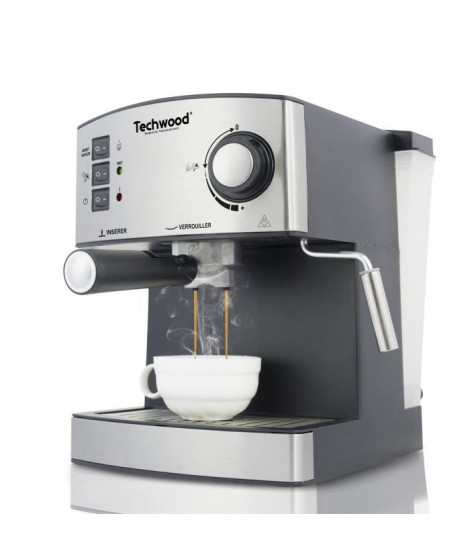TECHWOOD TCA-150EX Machine a expresso ? 850W ? 15 bars ? 1.6 L