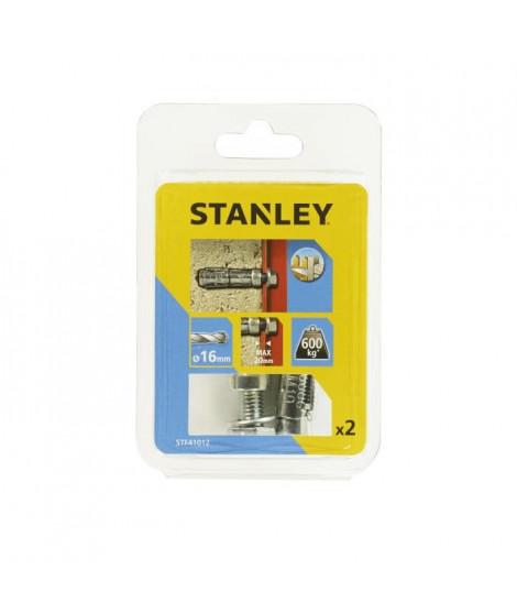 STANLEY Kit de 2 boulons a expansion avec vis M10 STF41012-XJ