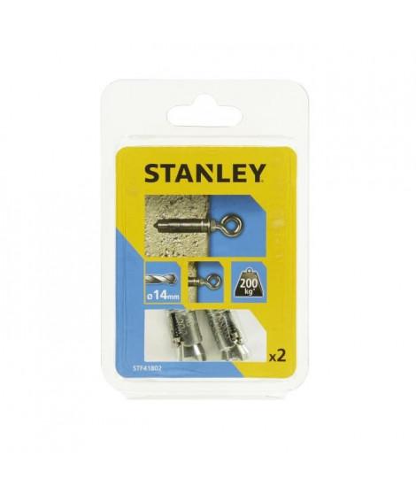 STANLEY Kit de 2 boulons a expansion avec piton M8 STF41802-XJ