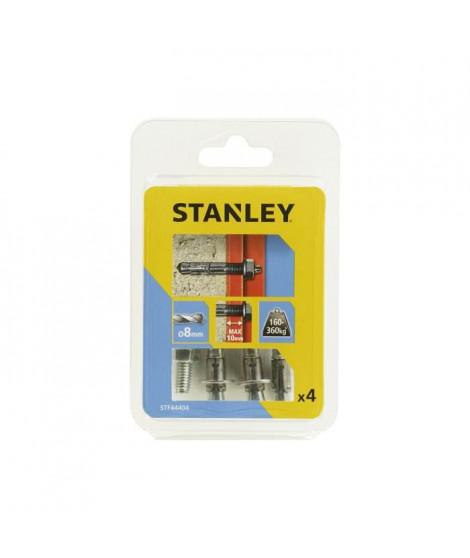 STANLEY Kit de 4 goujons d'ancrage ø8x65 mm STF44404-XJ