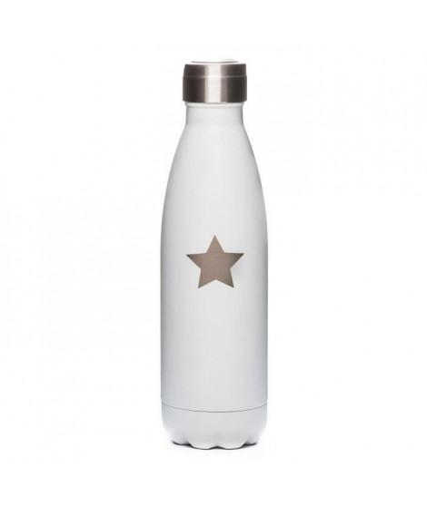 YOKO DESIGN Bouteille Phosphorescente PM 500 ml blanc étoile beige