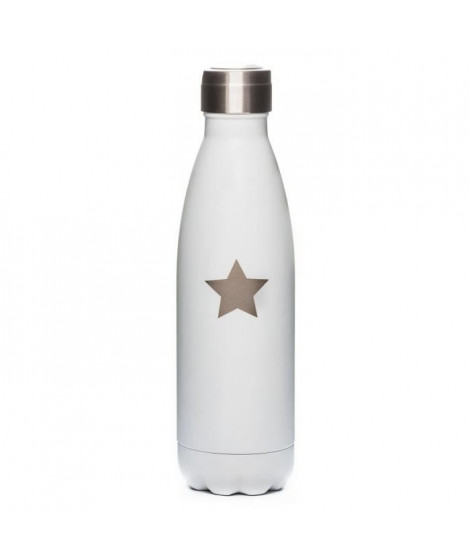 YOKO DESIGN Bouteille Phosphorescente PM 260 ml blanc étoile beige