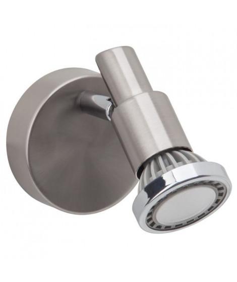 BRILLIANT Applique spot LED Ryan hauteur 11 cm diametre 8 cm GU10 5W acier et chrome