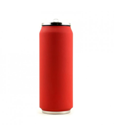 YOKO DESIGN Canette isotherme 500 ml soft rouge
