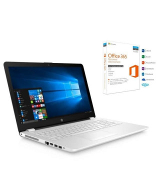 """HP PC PORTABLE - 15.6"""" - RAM 4Go - AMD A9-9420 - AMD Radeon 520 (2Go) - Stockage 1 To HDD + 128 Go SSD - Office 365 Personnel"""