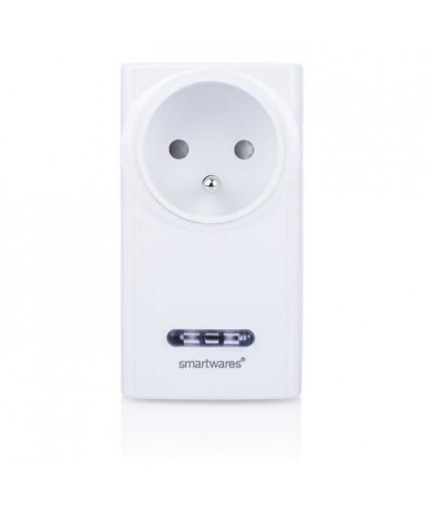 SMARTWARES Prise télécommandée variateur de lumiere enfichable SH5-RPD-02A/FR