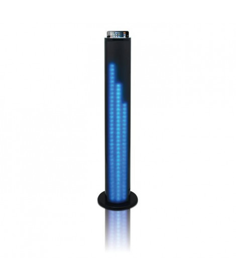 TAKARA SL510BT Enceinte bluetooth tour 2.1 - 80W - Port USB - Jeu de lumieres LED