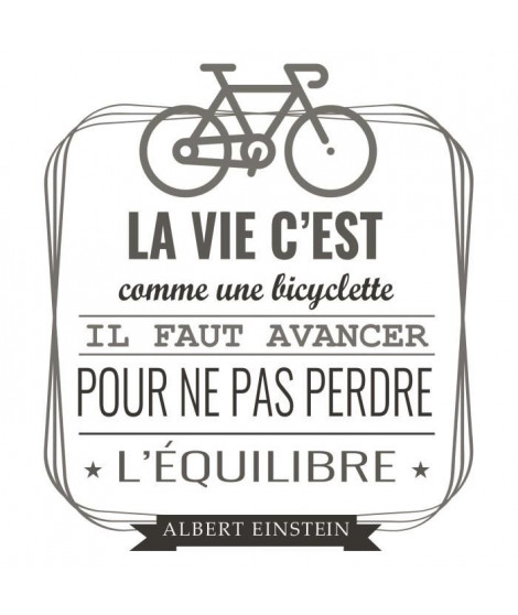 Stickers adhésif mural La vie c'est comme une byciclette - 40x45cm
