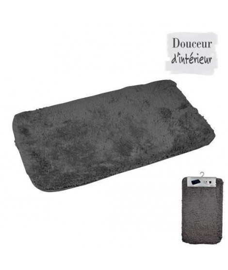 Tapis de bain chinchilla anthracite 50x80 cm