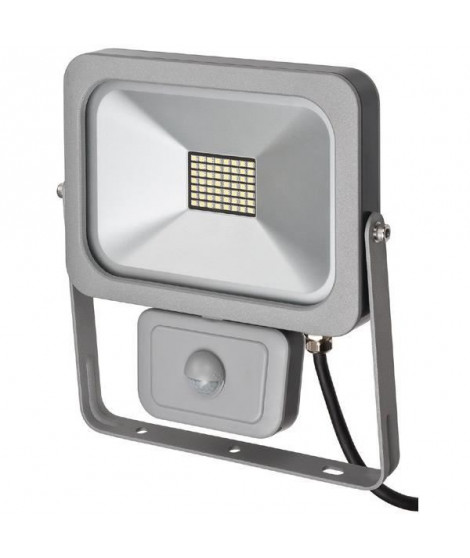 BRENNENSTUHL Projecteur slim SMD-LED H05RN-F 3G1,0 - 30 W - IP54 - PIR